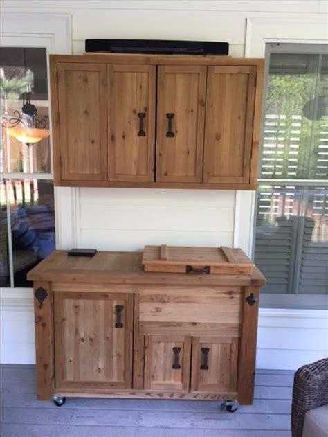 rustic outdoor tv cabinet 65 best rustic reclaimed wooden cooler bars cabinets