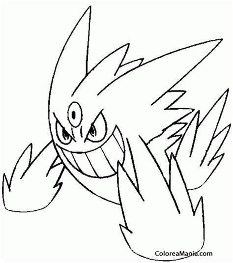 pokemon coloring pages gallade colorear mega gengar pokemon dibujo para colorear gratis