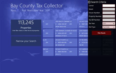 Atlantic County Property Tax Records Windows 8 App Bay County Tax Collector Makes It Easy To
