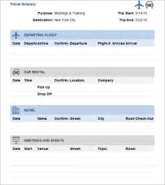 travel itinerary template free premium templates