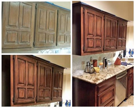 how to gel stain kitchen cabinets java gel stain kitchen transformation general finishes