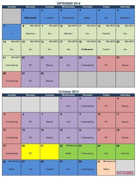 Cruise Calendar Startravelinternational