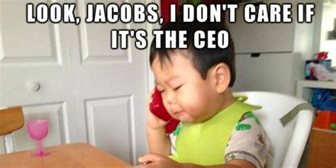 Baby On Phone Meme - this baby is business adorable