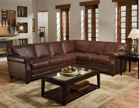 Brown Sectional Sofa Plushemisphere Beautiful Brown Leather Sectional Sofas