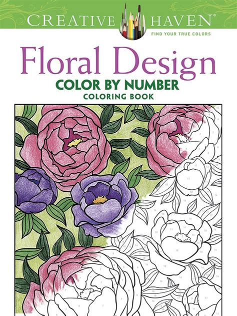 color by number coloring books for adults creative floral design color by number coloring book