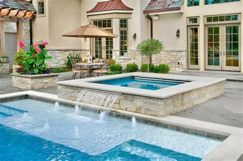 inground pool spa traditional pool chicago by platinum poolcare