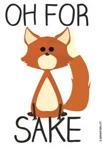 Design Mugs oh for fox sake mug buy online at grindstore com