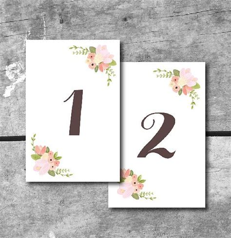 template wedding table number cards 8 best images of table number cards printable printable