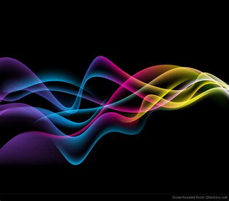 imagenes abstractas en negro ondas coloridas abstractas en fondo negro gr 225 fico