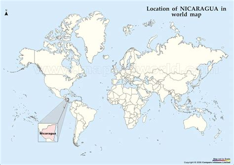 where is nicaragua on the world map nicaragua map and nicaragua satellite images
