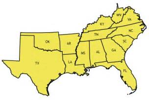 map of southern united states region southern us us greenbrokers