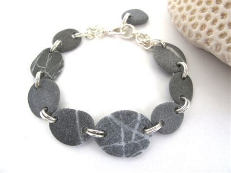 rock jewelry pebble bracelet jewelry stary handmade