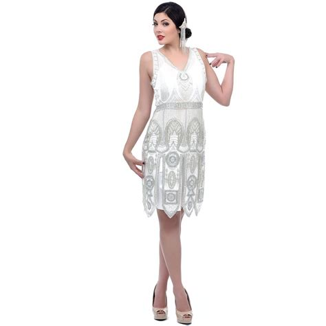 beaded flapper dress ivory handed beaded flapper dress