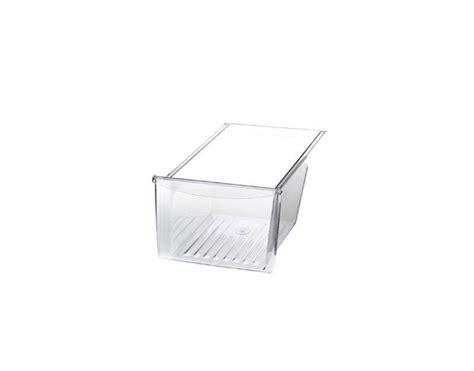 frigidaire refrigerator crisper drawer replacement frigidaire glrt218wdz3 crisper drawer pan clear