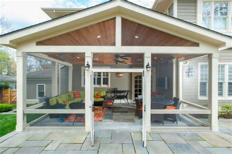 how to convert a flagstone patio into a screened in porch