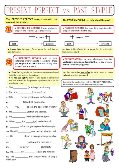 preguntas con past perfect past simple or present perfect interactive worksheet