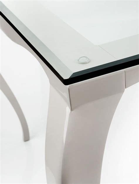 tavolo piano vetro tavolo con gambe in alluminio piano in vetro trasparente