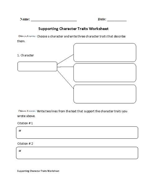 Character Traits Worksheet Pdf by Englishlinx Character Analysis Worksheets