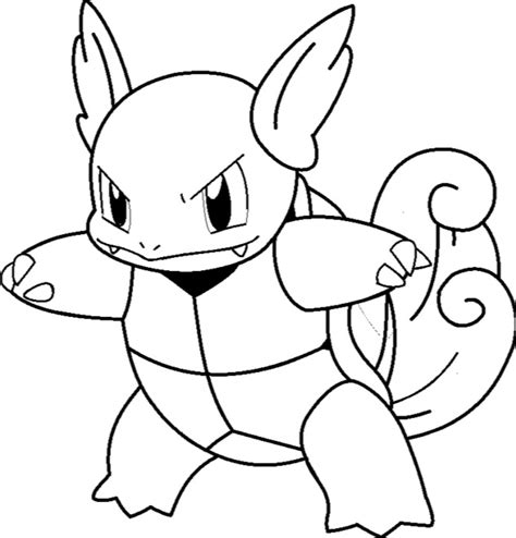 squirtle wartortle blastoise pokemon coloring pages