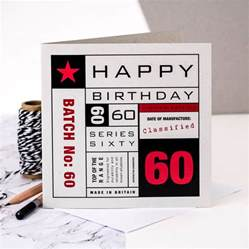 60th birthday card by coulson macleod notonthehighstreet