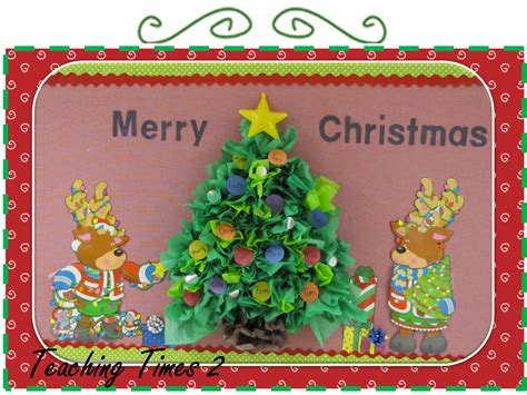 teaching times 2 christmas tree tissue paper bulletin board