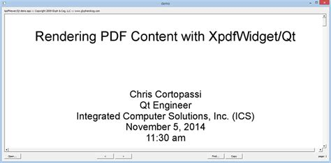 programming with qt for embedded linux pdf rendering pdf content with xpdfwidget ics integrated
