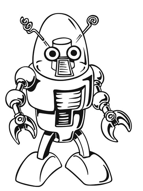 baby robot coloring page mechanical robots coloring pages fizz boom read