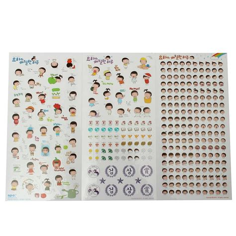 Schedule Notebook 6 sheets diary stickers label schedule paster notebook