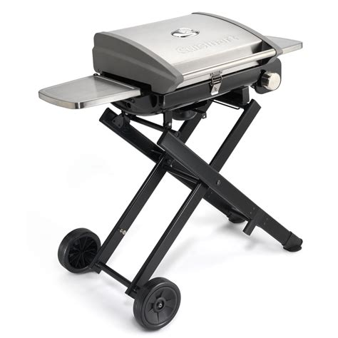 Portable Gas Grill Cing by Shop Cuisinart All Foods Stainless Steel 15000 Btu 240 Sq