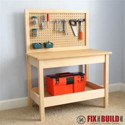 Wooden Storage Bench Plans Free by Diy Kids Workbench Buildsomething Com