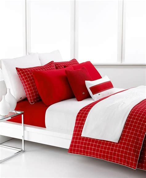 Lacoste Bedding Sets Lacoste Bedding Denab King Duvet Cover Pillowshams Set Chili Pepper