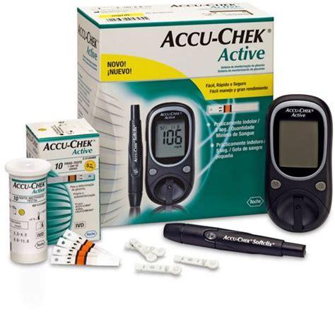 Alat Cek Test Periksa Glukosa Glucosa Glucose Onetouch Select Simple accu chek active blood sugar monitor