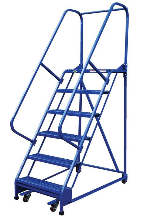 Step Ladder Chair 7 Step Portable Warehouse Ladders With 18 Wide Perforated
