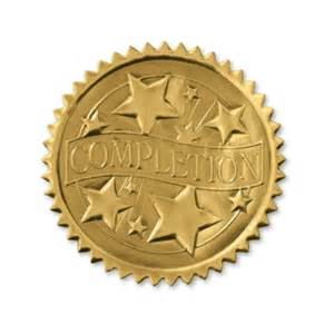 Certificate Seal Template by Completion Gold Foil Seals Paperdirect
