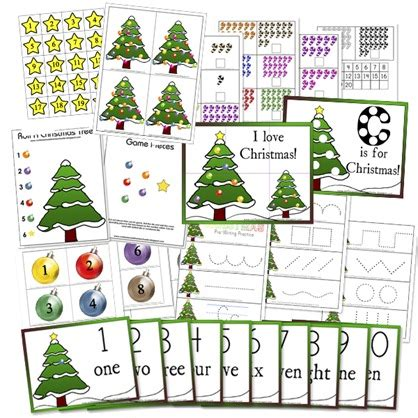 printable toddler christmas activities preschool christmas math activities