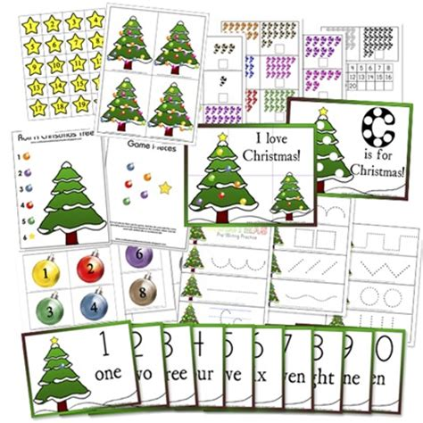 preschool christmas math activities