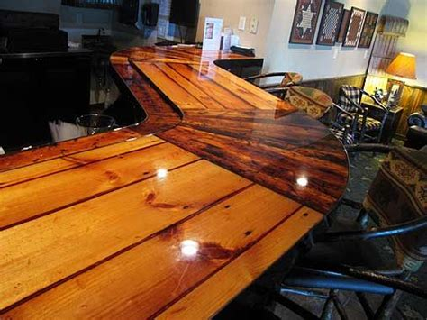 natural wood bar top countertop in hotel bar reclaimed wood 1 bar ideas