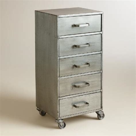 Five Drawer File Cabinet by Metal 5 Drawer Jase Rolling File Cabinet World Market