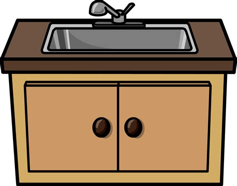 furniture clipart kitchen sink pencil and in color