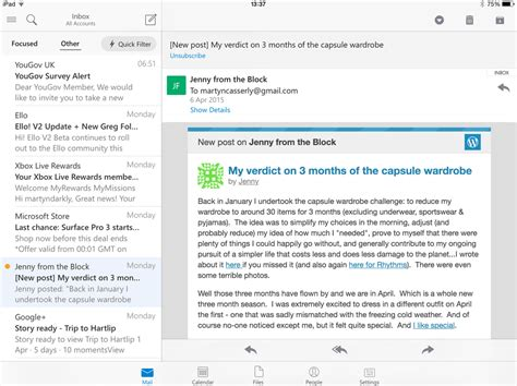 iphone mail layout outlook for ios 8 vs apple mail for ios macworld uk