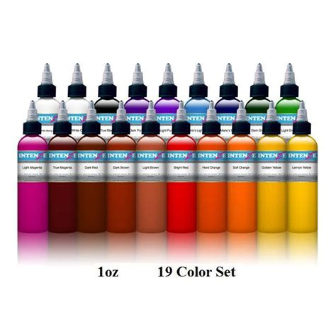 tattoo ink mixing int 253 19 color tattoo ink set