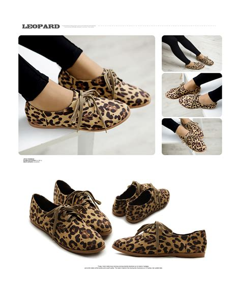 animal print oxford shoes ollio classic flat loafer lace up faux suede oxford