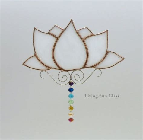 lotus flower chakra lotus flower with chakra colours stained glass by