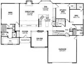 One Level Floor Plans by One Level Open Floor Plan
