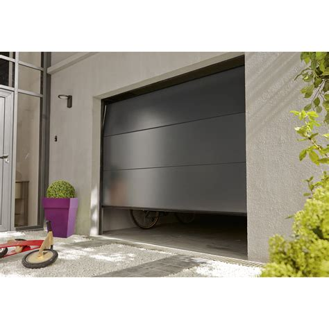 porte de garage sectionnel porte de garage sectionelle palma acier gris anthracite