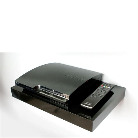 floating media shelf black media floating shelf kit 450x300x50mm