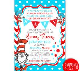 dr seuss baby shower invitation card cat in the hat baby