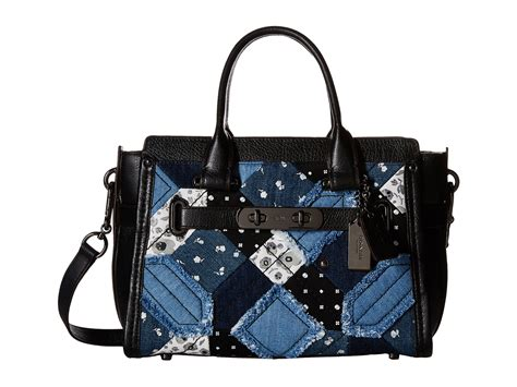 Coach Swagger Patchwork Size 27 coach quilt denim coach swagger 27 zappos
