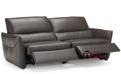 versa b842 leather sofa by natuzzi is fully customizable