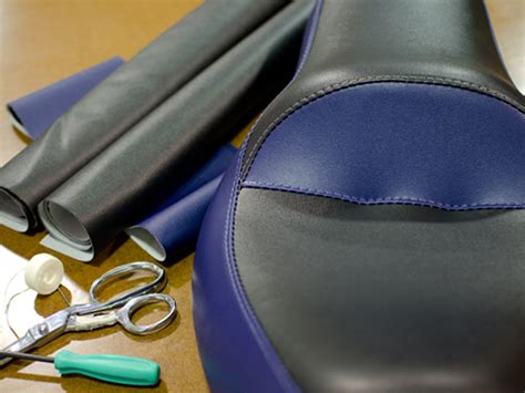 motorcycle seat upholstery material how to recover a motorcycle seat using stretch vinyl